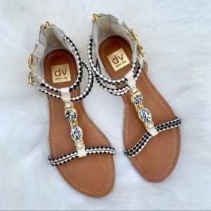 Dolce Vita Aztec Gladiator Sandals Size 8.5